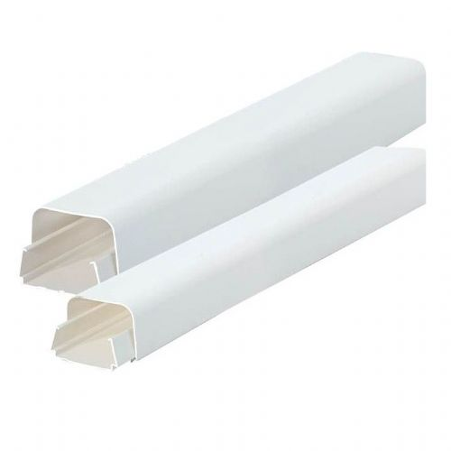 White Cable Pipe Trunking 110mm x 75mm x 2m